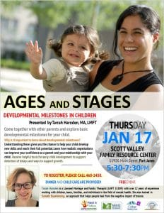 Ages and Stages - Developmental Milestones in Children @ Scott Valley Family Resource Center