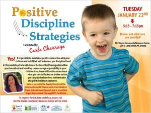Positive Discipline Strategies @ Mt. Shasta Community Resource Center