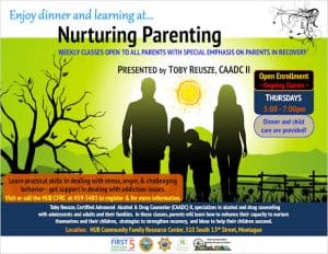 Nurturing Parenting - Weekly classes open to all parents with special emphasis on parents in recovery @ HUB Communities Family Resource Center