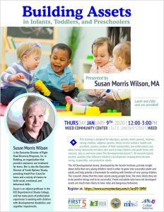Building Assets in Infants, Toddlers, Preschoolers, and School-aged Children @ Weed Community Center