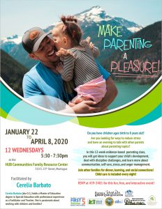Make Parenting a Pleasure @ HUB Communities Family Resource Center